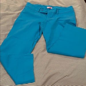 GUC Lilly Pulitzer teal luxury Capri pants